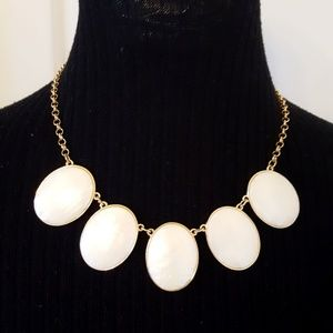 NWT! WHBM Mother of Pearl Statement Necklace